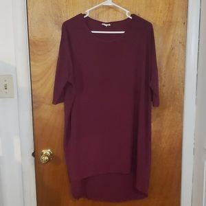 Lularoe Irma Shirt Blouse Purple Size M